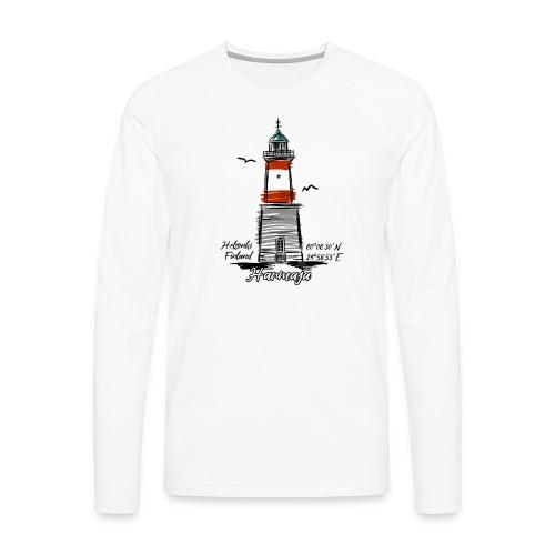 HARMAJA MAJAKKA Helsinki Boating Textiles, gifts - Miesten premium pitkähihainen t-paita