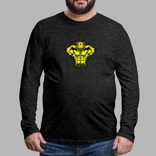 Bodybuilder Wolf - Männer Premium Langarmshirt