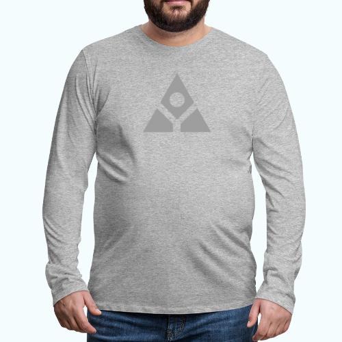 Sacred geometry gray pyramid circle in balance - Men's Premium Longsleeve Shirt