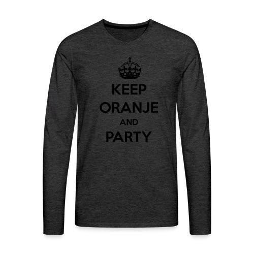 KEEP ORANJE AND PARTY - Mannen Premium shirt met lange mouwen