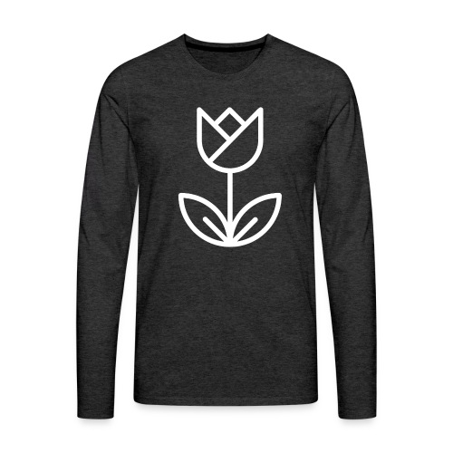 Tulip white png - Men's Premium Longsleeve Shirt