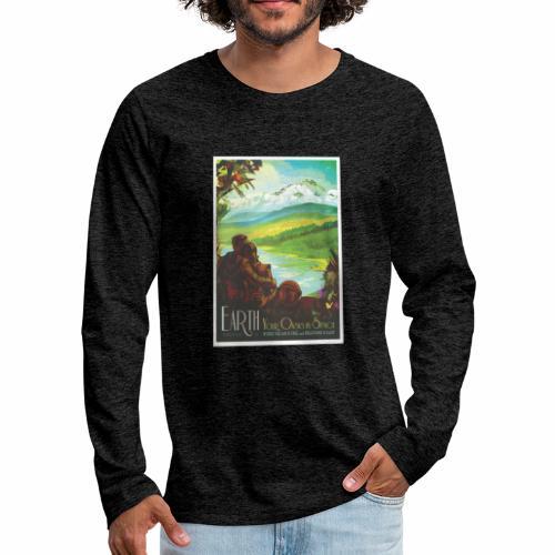 Planète Terre - T-shirt manches longues Premium Homme