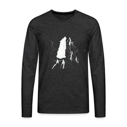 howling geometric wolf - Männer Premium Langarmshirt