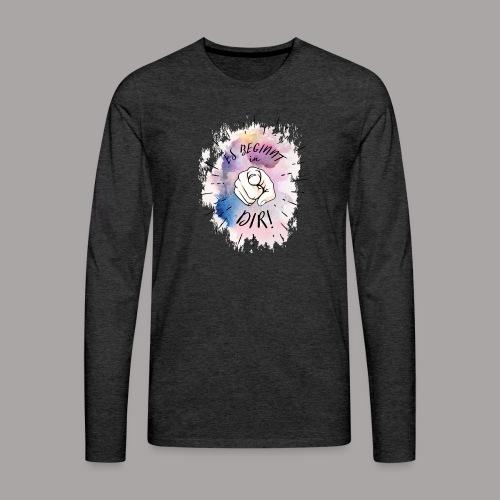 shirt bunt tshirt druck - Männer Premium Langarmshirt