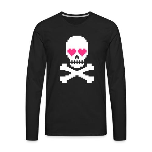 Skull Love - Mannen Premium shirt met lange mouwen
