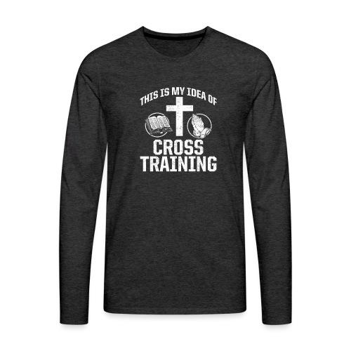 Sport mit Jesus und Bibel lesen Christen Spruch - Männer Premium Langarmshirt
