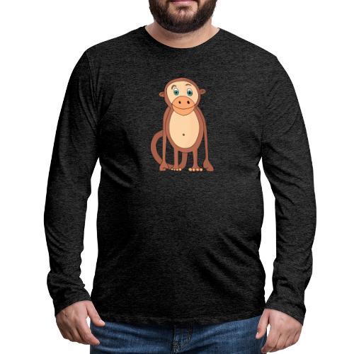 Bobo le singe - T-shirt manches longues Premium Homme