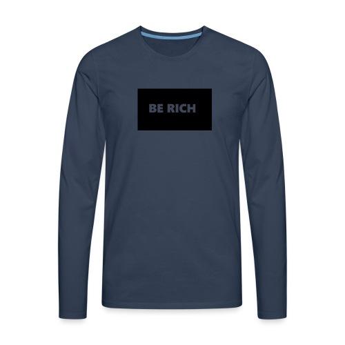 BE RICH REFLEX - Mannen Premium shirt met lange mouwen
