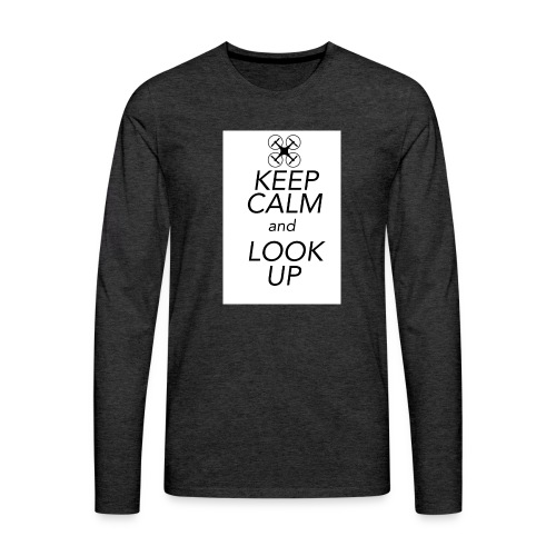 Keep Calm and Look Up - Mannen Premium shirt met lange mouwen