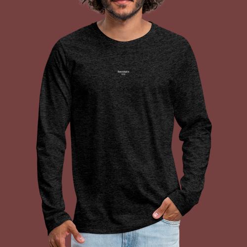 bænkørs hvit tekst - Premium langermet T-skjorte for menn