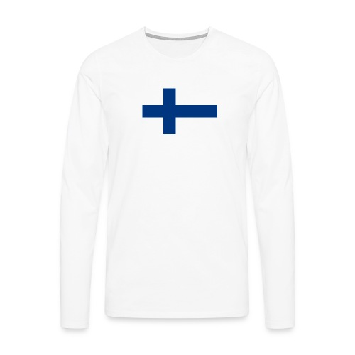800pxflag of finlandsvg - Miesten premium pitkähihainen t-paita