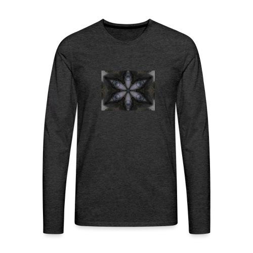 flor hipster - Camiseta de manga larga premium hombre