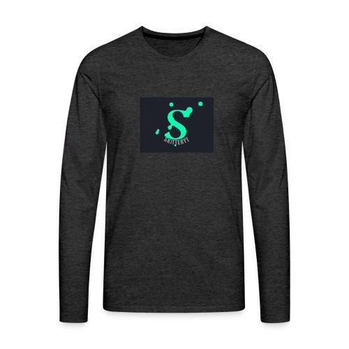 skitterYT - Långärmad premium-T-shirt herr