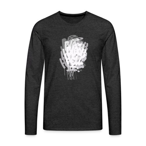 bombing-x grigio - Maglietta Premium a manica lunga da uomo