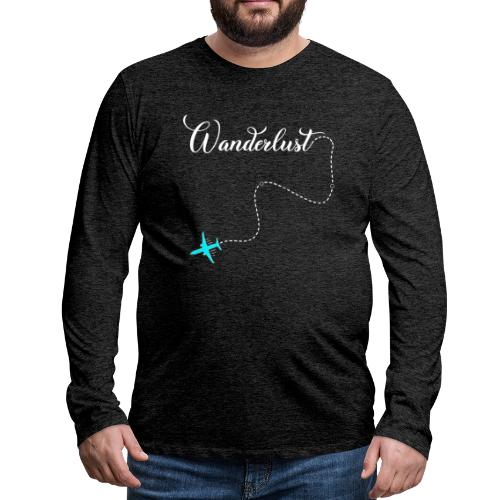 Reisen Weltreise Flugzeug Travelshirt - Männer Premium Langarmshirt