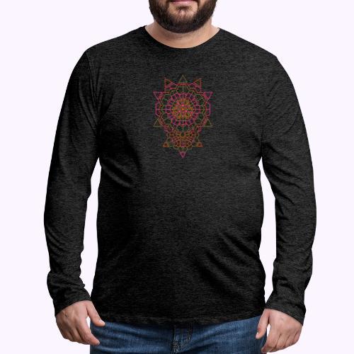 Tanque de cristal cósmico para hombres - Camiseta de manga larga premium hombre