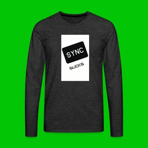 t-shirt-DIETRO_SYNK_SUCKS-jpg - Maglietta Premium a manica lunga da uomo