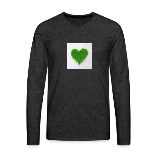 Herzrasen Button - Männer Premium Langarmshirt