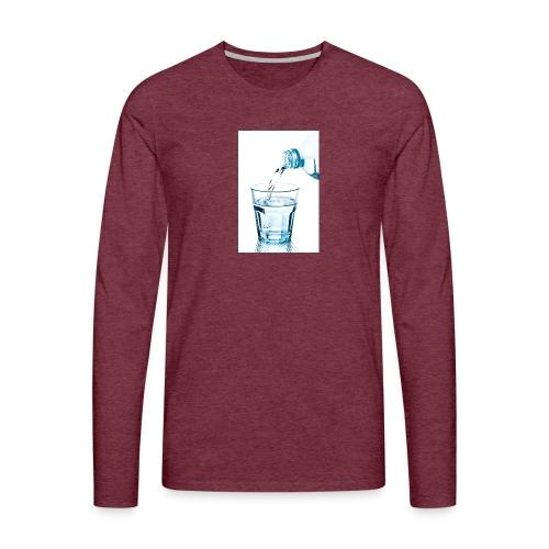Glas-water-jpg - Mannen Premium shirt met lange mouwen