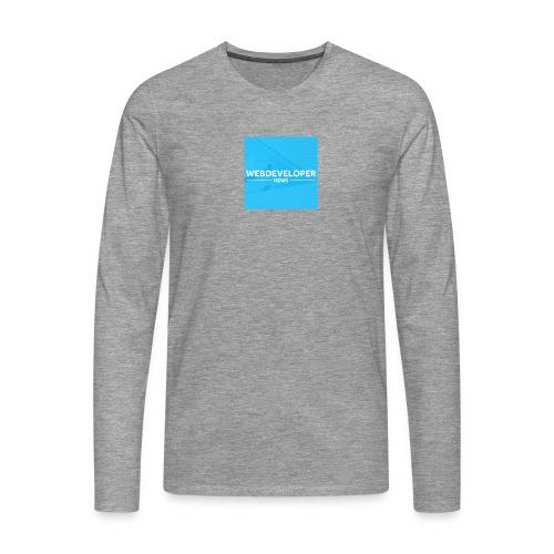 Web developer News - Männer Premium Langarmshirt