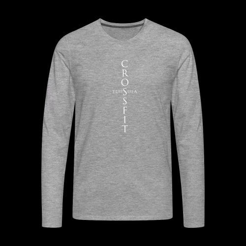 CrossFit Tuusula risti - Miesten premium pitkähihainen t-paita