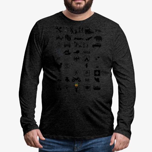 Where should I go now? - Männer Premium Langarmshirt