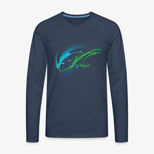 bluegreen - Männer Premium Langarmshirt