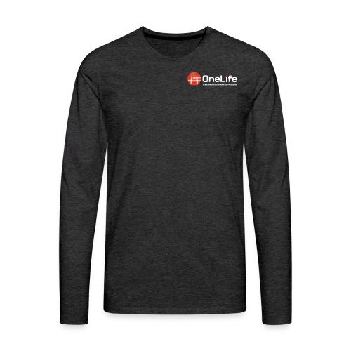 onelife ima logo dark bac - Men's Premium Longsleeve Shirt