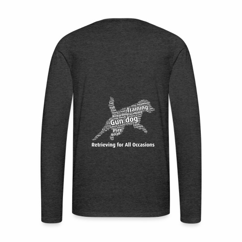 Retrieving for All Occasions wordcloud vitt - Långärmad premium-T-shirt herr