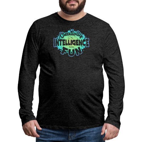 Createlligence - Långärmad premium-T-shirt herr
