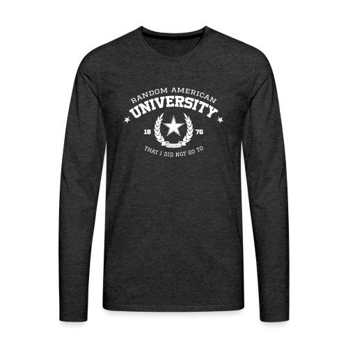 Random University - Mannen Premium shirt met lange mouwen
