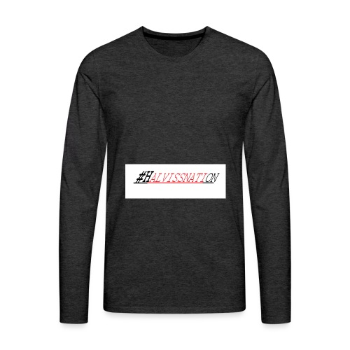 HOVEDLOGO png - Premium langermet T-skjorte for menn