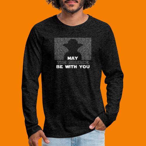 May the source be with you - Långärmad premium-T-shirt herr