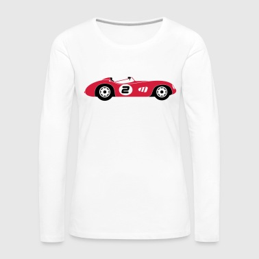 Samochód sportowy - Koszulka damska Premium z długim rękawem