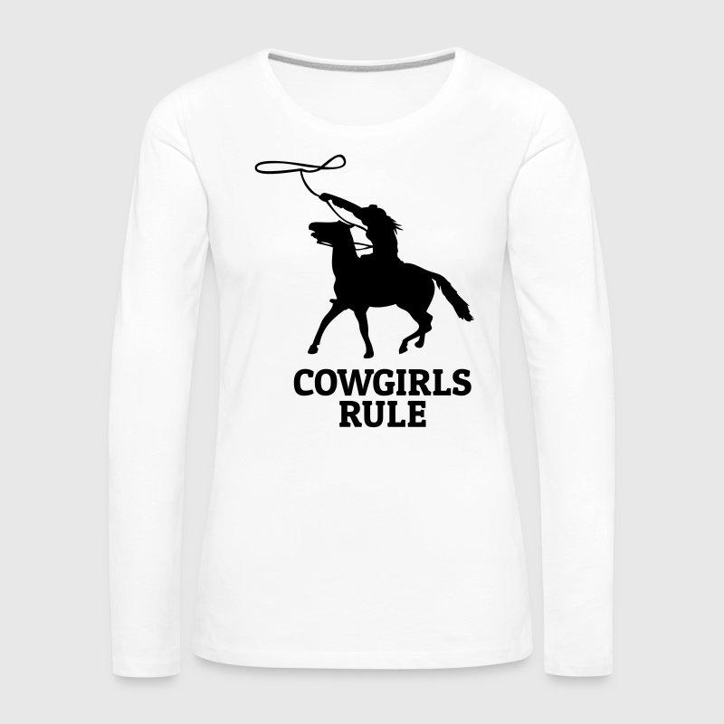 Cowgirls rule regla de las vaqueras - Camiseta de manga larga premium mujer