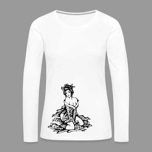 Geisha (black) - Frauen Premium Langarmshirt