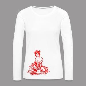 Geisha (red) - Frauen Premium Langarmshirt