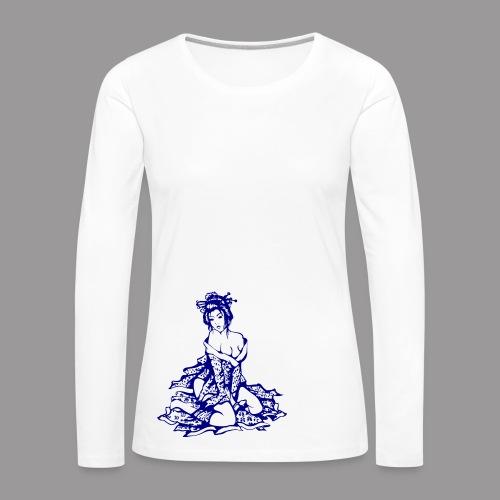 Geisha (navi) - Frauen Premium Langarmshirt