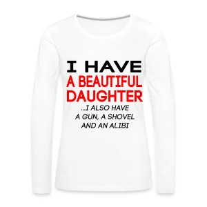 beautiful_daughter - Premium langermet T-skjorte for kvinner