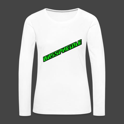 Bassphemie - Neongrün II - Frauen Premium Langarmshirt