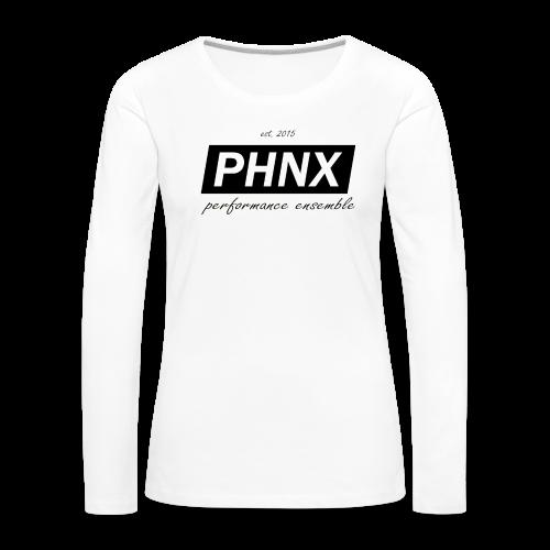 PHNX /#black/ - Frauen Premium Langarmshirt