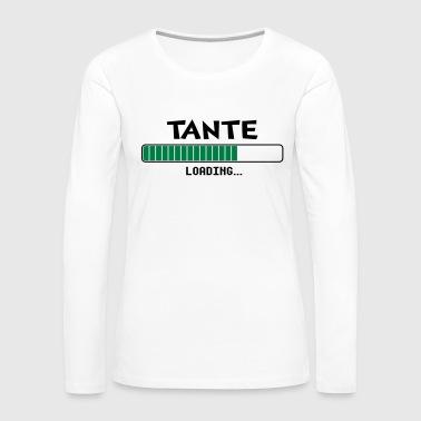 Tante loading Ladebalken - Frauen Premium Langarmshirt