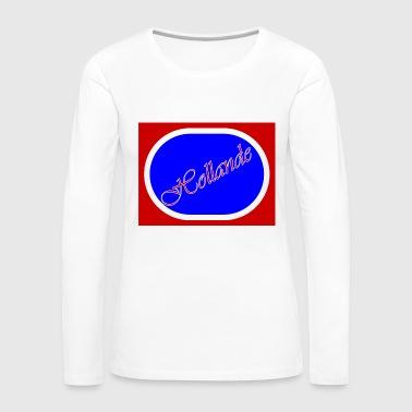 bleu-jpg - T-shirt manches longues Premium Femme