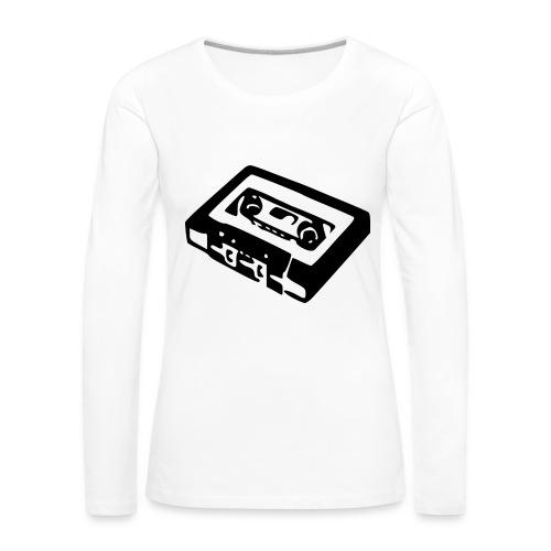 Retro-Kassette - Frauen Premium Langarmshirt