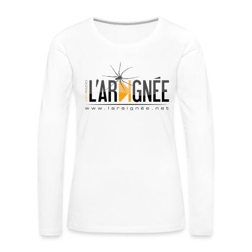 L'ARAIGNÉE, logo noir - T-shirt manches longues Premium Femme