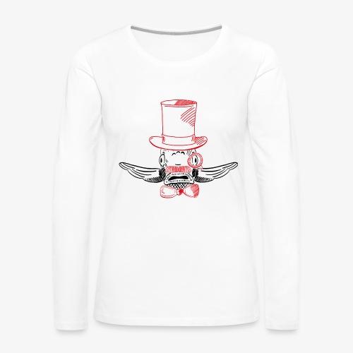 Elegant Hipster Fish - Mustache - Frauen Premium Langarmshirt
