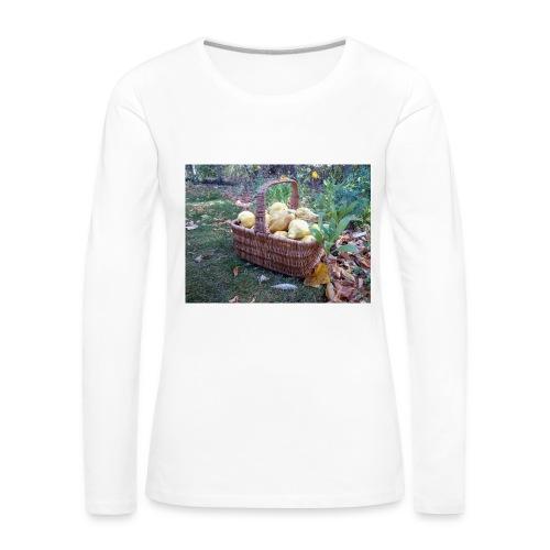 Quitten-Korb - Frauen Premium Langarmshirt