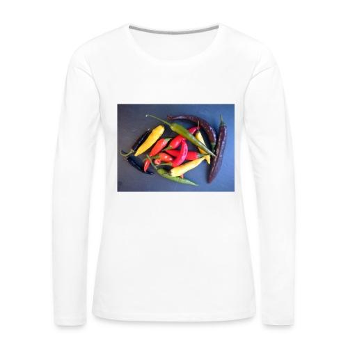 Chili bunt - Frauen Premium Langarmshirt