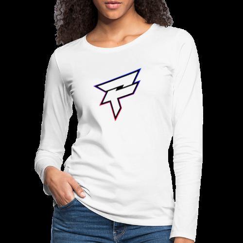 Pozyh Logo - Frauen Premium Langarmshirt