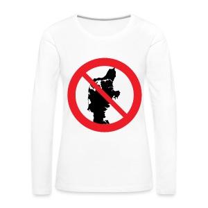 Jylland forbudt - Bestsellere - Dame premium T-shirt med lange ærmer